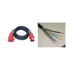 Cable rallonge 380 de 50m prise/fils